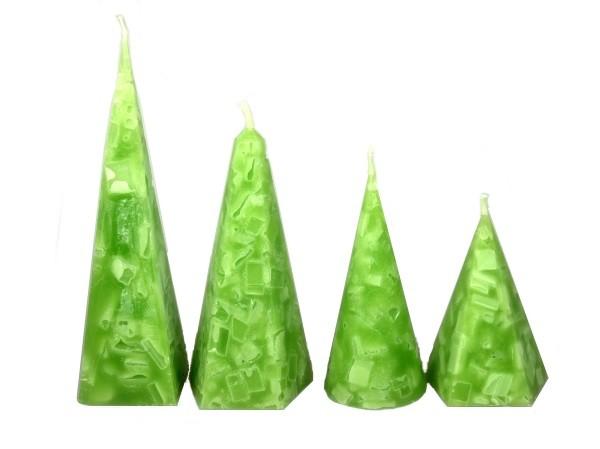 Kristallkerze grün