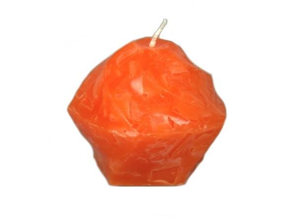 Kerze Skulptur orange