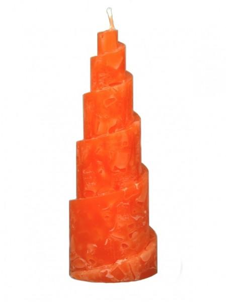 Kerze Spirale orange