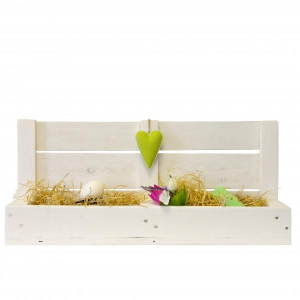 Kasten für Blumen oder Kräuter (inkl. Deko)