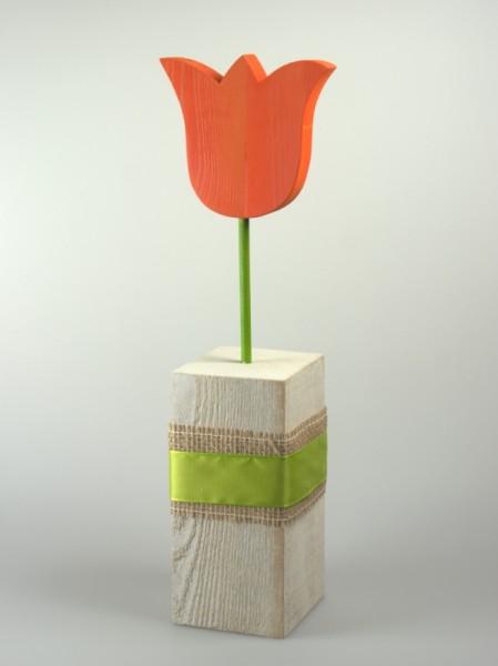 Tulpe auf Sockel orange
