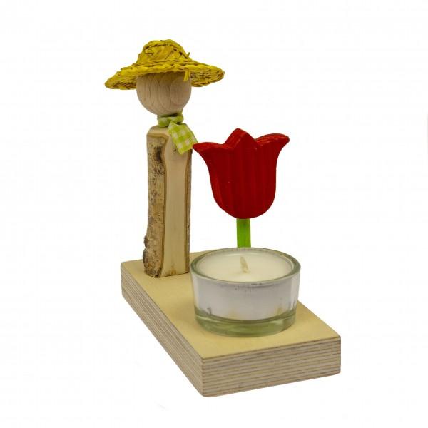 """""""Blumenkinder"""" aus Holz mit Tulpe"""