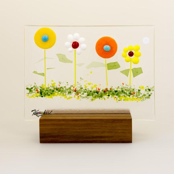 Blumenwiese auf Holzsockel