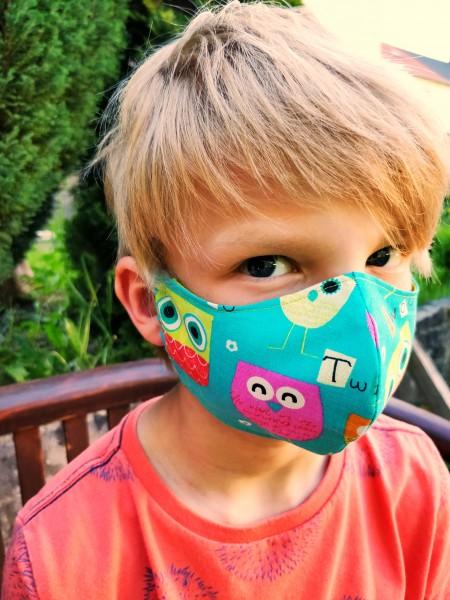 Mund- und Nasenmaske Kinder mit Einschub für Filter (Filter nicht im Lieferumfang enthalten)