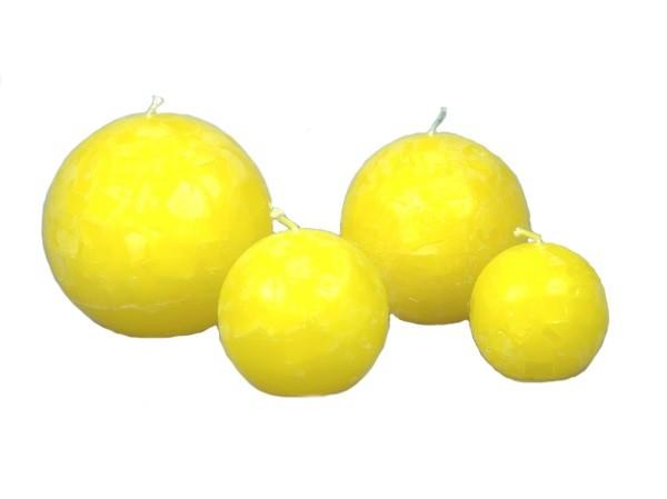Kugelkerze gelb L