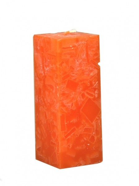 Blockkerze orange