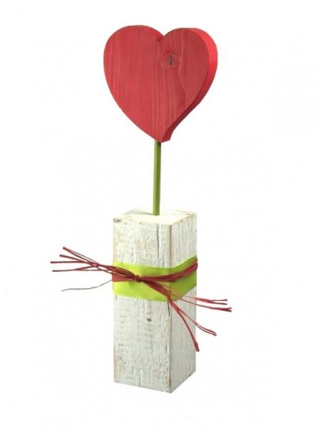 Herz auf Sockel rot